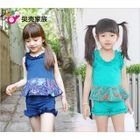 Kids Set: Frilled Print Top + Shorts 1596