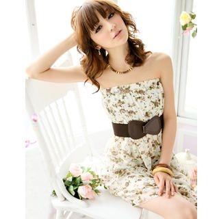 Buy Tokyo Fashion Strapless Floral Chiffon Dress 1022763774