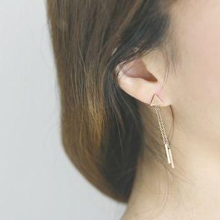 Triangle Earrings As Figure - One Size 1058596410