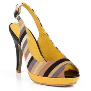 Buy Cocoeve Striped Open-Toe Pumps 1022567242