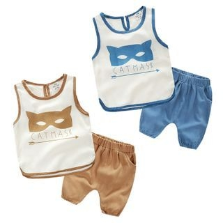 Kids Set: Print Tank Top + Shorts 1050867782