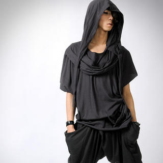 Buy deepstyle Cowl-Neck Hooded Top 1022984593