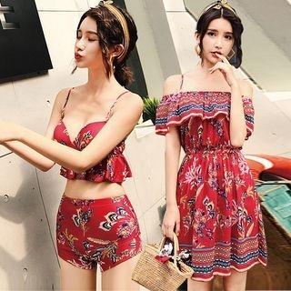Set: Printed Bikini + Off-Shoulder Sundress 1064290629