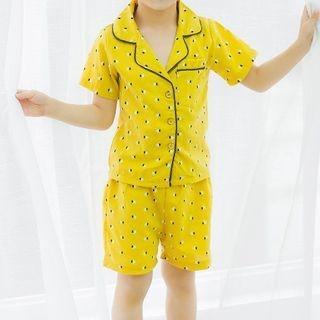 Kids Pajama Set: Printed Short-Sleeve Shirt + Shorts 1066888679