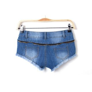 Lace Trim Denim Shorts 1059844826
