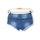 Lace Trim Denim Shorts 1596