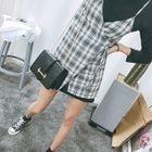 Set: Sleeveless Plaid Wrap Dress + Mini T-Shirt Dress 1596