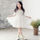 Kids Frilled Lace Dress 1596