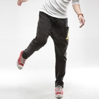 Picture of Style YOURS A Patched Sweat Pants 1022185369 (Style YOURS, Mens Pants, Korea)