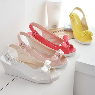 Buy KAWO Bow-Accent Wedges 1022875569