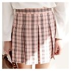 Plaid Mini Pleated Skirt 1596