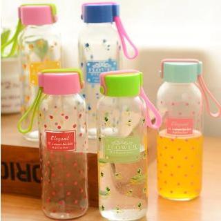 Printed Cute Glass Water Bottles