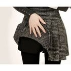 Inset Shorts Check Mini Pleated Skirt 1596