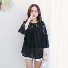 3/4-Sleeve Lace Panel Blouse от YesStyle.com INT