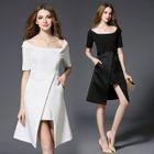 Short-Sleeve Off-Shoulder Dress 1596