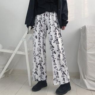 Printed Wide-Leg Pants 1065167797