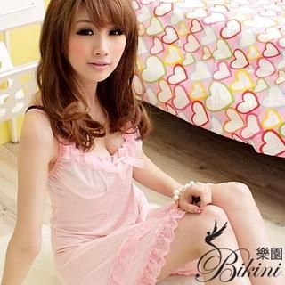 Buy BiKiNi Wonderland Heart Print Slipdress Light Orange – One size 1023030253