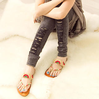 Picture of Fashion Lady Beaded Thong Sandals 1023002672 (Sandals, Fashion Lady Shoes, China Shoes, Womens Shoes, Womens Sandals)