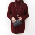 Turtleneck Mini Sweater Dress 1596