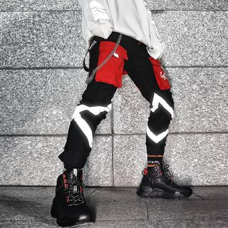 Image of Colour Block Jogger Pants