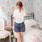 Drawstring Pleated Shorts 1596