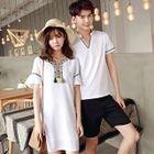 Couple Matching Short-Sleeve T-Shirt / Short-Sleeve A-line Dress 1596