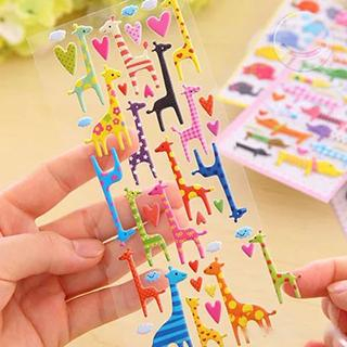 giraffe-puffy-sticker