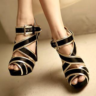 Buy Kvoll Strappy Platform Sandals 1022654174