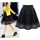 Mesh Check Pleated Skirt 1596