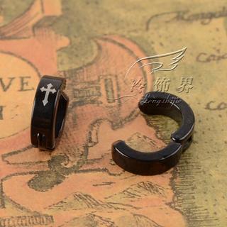 Single Cross-Print Titanium Steel Ear Clip