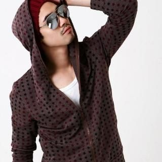 Picture of BLUE HOMME Star Print Hoodie 1022096394 (BLUE HOMME, Mens Jackets, Korea)