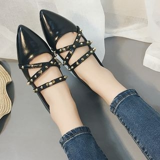 Studded Pointed Flats 1062099508