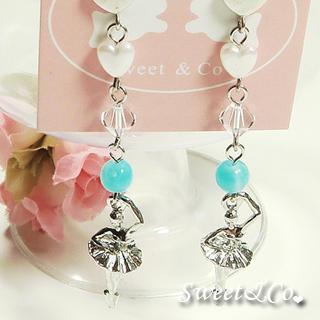 Swarovski   Crystal   Earring   Silver   Sweet   Girl