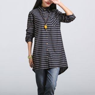 Striped Long Shirt 1057627858