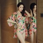 Set: Floral Print Swimsuit + Cover-Up 1596