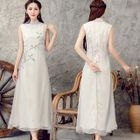 Sleeveless Print Maxi Dress 1596