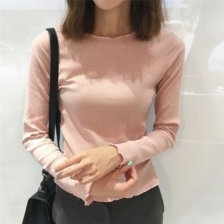 Long-Sleeve Ribbed T-Shirt 1062263214