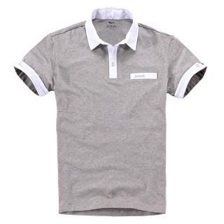 Picture of Justyle Contrast-Trim Short-Sleeve Polo Shirt 1022740975 (Justyle, Mens Tees, China)