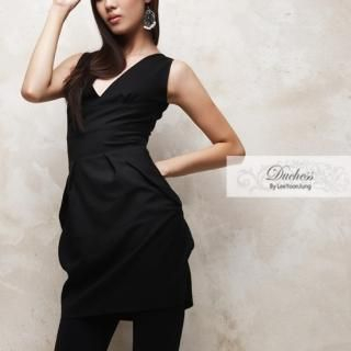 Picture of Duchess V-Neck Sleeveless Wool Dress 1021204704 (Duchess Dresses, Womens Dresses, South Korea Dresses, Wool Dresses)