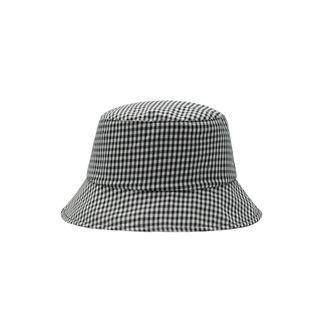 Reversible | Bucket | Plaid | Black | Size | Hat | One
