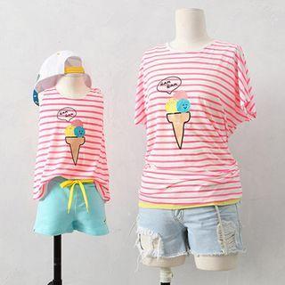Kids Set: Striped Tank Top + Shorts 1061074201