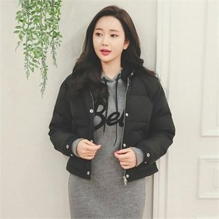 Duck Down Cropped Puffer Jacket