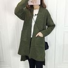Pocketed Open Front Long Cardigan 1596