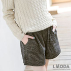 Houndstooth Pleated Shorts 1596