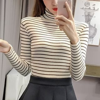 Ribbed Striped Knit Top 1063460011