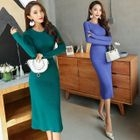 Sheath Rib Knit Dress 1596