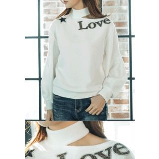 Cutout-Front Lettering Top 1056970036