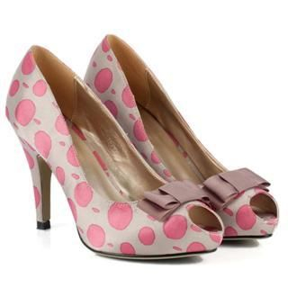 Buy Cocoeve Polka Dot Open-Toe Pumps 1022567066