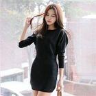Dolman-Sleeve Knit Mini Bodycon Dress 1596
