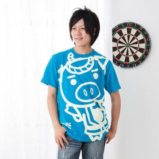 Picture of Buden Akindo Print Crewneck T-Shirt - Beautiful Pig Festival 1022824891 (Buden Akindo, Mens Tees, Japan)